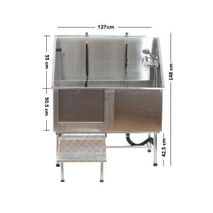Stainless Steel Bath - Stand Alone Model H104 - Click for more info