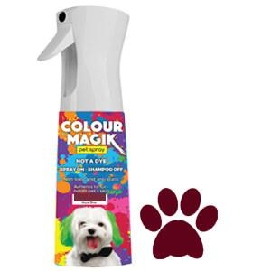 Colour Magic Pet Spray Deep Maroon