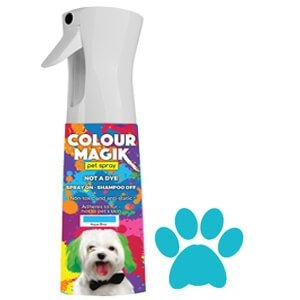Colour Magic Pet Spray Aqua Blue