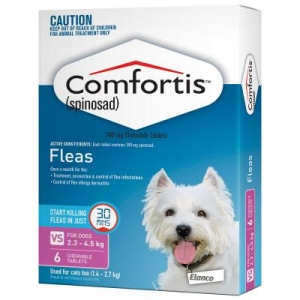 Comfortis Chewable Tablets For Dogs 2.3-4.5kg 6s Pink