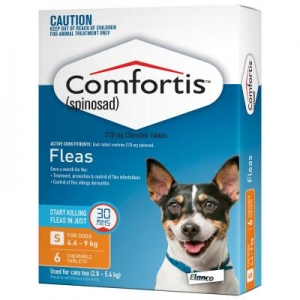 Comfortis Chewable Tablets For Dogs 4.6-9kg 6s Orange