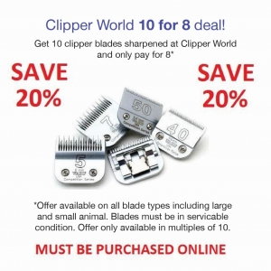 Clipper World 5 for 4 Sharpening Deal - Click for more info