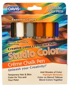 DAVIS Creme Chalk Pens - Essential Colour Pack of 6