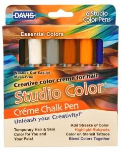 DAVIS Creme Chalk Pens - Essential Colour Pack of 6