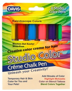 DAVIS Creme Chalk Pens - Kaleidoscope Colour Pack of 6