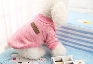 Classic Dog Sweater Light Pink Xtra Small