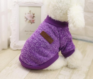 Classic Dog Sweater Purple Medium