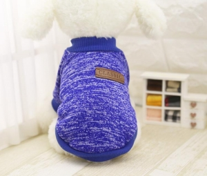 Classic Dog Sweater Blue Small