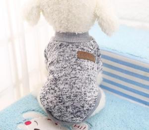 Classic Dog Sweater Grey Large