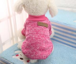 Classic Dog Sweater Dark Pink Large