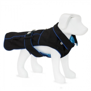F&R FOR VP PETS 5TH AVENUE COAT - BLACK/BLUE - LAR