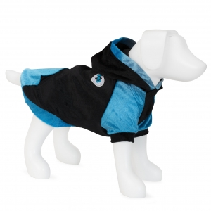 F&R for VP Pets Fleece Hoodie - Blue/Black - SMALL