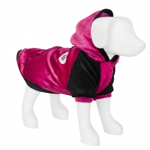 F&R for VP Pets Fleece Hoodie - Pink/Black - SM