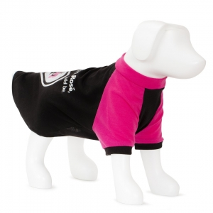 F&R FOR VP PETS SLOGAN TEE - PINK/BLACK - MD