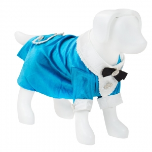 F&R for VP Pets Tuxedo Dress - Blue - Small