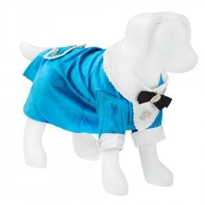 F&R for VP Pets Tuxedo Dress - Blue - Xtra Small