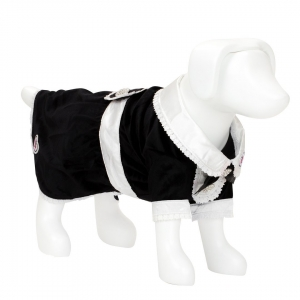 F&R for VP Pets Tuxedo Dress - Black - Xtra Small