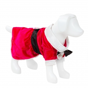 F&R FOR VP PETS TUXEDO DRESS - PINK - XTRA SMALL