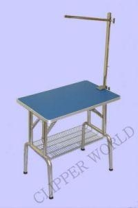 Folding Grooming Table Standard - Blue Top with Gr