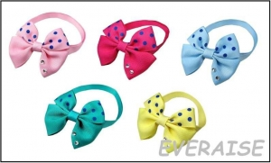 MIXED BOW TIES COLLAR-RHINESTONE