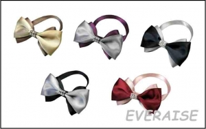 MIXED BOW TIES COLLAR-SILK SATIN