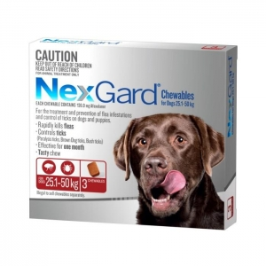 NexGard for Large Dogs 25.1-50kg Red 3s