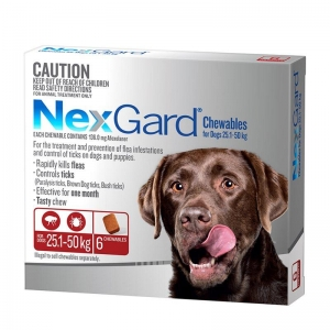 NexGard for Large Dogs 25.1-50kg Red 6s
