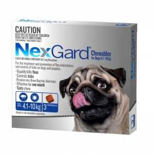 NexGard for Small Dogs 4.1-10kg Blue 3s