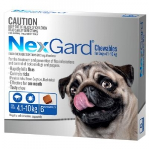 NexGard for Small Dogs 4.1-10kg Blue 6s