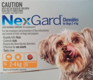 NexGard for Very Small Dogs 2-4kg Orange 6s
