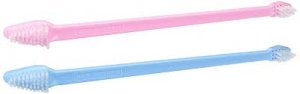 Paw Brothers Dual End Tooth Brush (pink or blue) - SINGLE