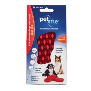 Pet And Me Red Brush Firm