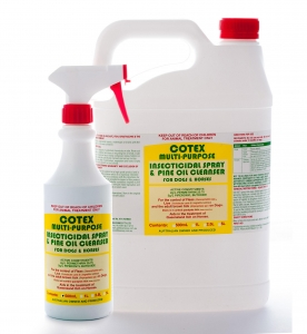 Cotex MULTI-PURPOSE INSECTICIDAL SPRAY & PINE OIL CLEANSER for Dogs and Horses 5