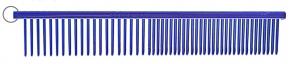 "Resco Electric Blue Combination Comb - 1"" Teeth -"
