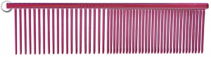 Resco Combination Comb, Candy Red