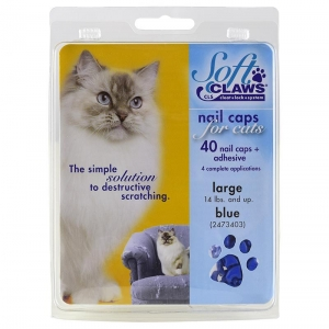 Soft Claws Feline Large - Blue