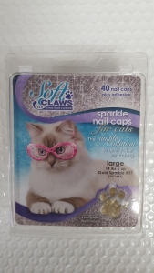 Soft Claws Feline Large - Gold Sparkle