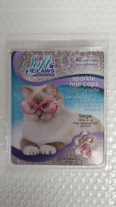 Soft Claws Feline Large - Pink Sparkle