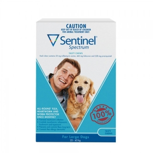 Sentinel Spectrum Chews For Dogs 23-45Kg White 6's