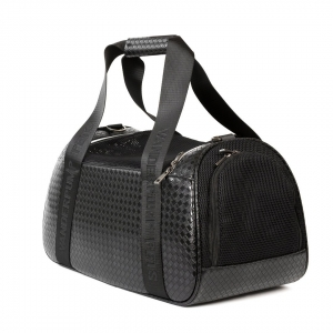 Vanderpump Graphite Duffle Pet Carrier - Black