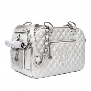 Vanderpump Classic Quilted Luxury Pet Carrier with