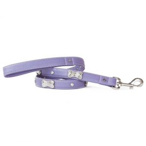 VP Pets Designer Diamond and Bone Leatherette Leas