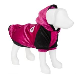 F&R for VP Pets Fleece Hoodie - Pink/Black - XS