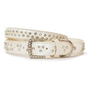 VP Pets Diamond Choker Leatherette Collar - XS - White